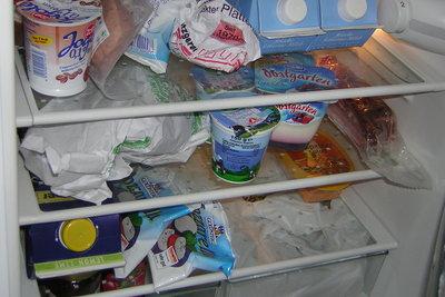 Gut - jetzt ist der Kühlschrank trocken.