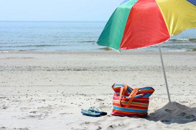 Bunte Strandtasche - selber nähen für Anfänger