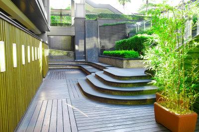 Den grünen Bambus überwintern