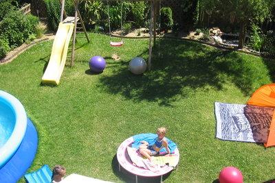 Hier haben Kinder Platz zum Spielen.