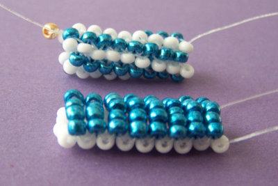 Für Fädelarbeiten eignet sich Nylonband hervorragend.