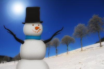 Einen Schneemann bauen macht Spaß!