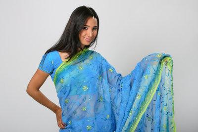 Der Sari ist ein schönes Kleidungsstück.