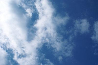 Einen Wolkenhimmel kann man malen