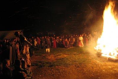Das Hexenfeuer - typisch für die Hexennacht