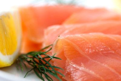 Frischer Lachs für das leckere Gericht.