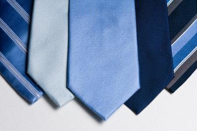 Krawatten müssen vorsichtig gebügelt werden.