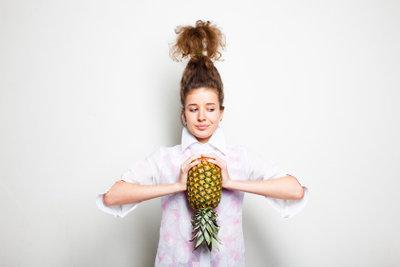 Eine schöne Ananas für die Diät.