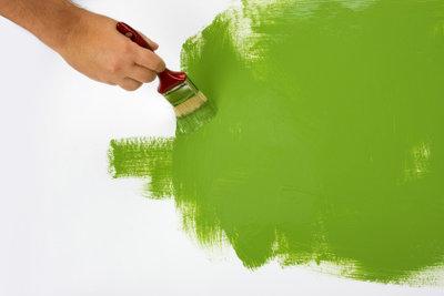 Mit Latexfarben werden intensive Ergebnisse erzielt.