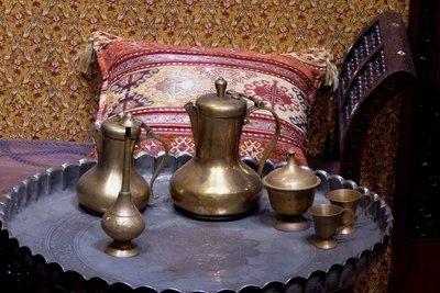 Detail zum orientalischen Schlafzimmer.