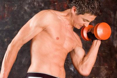 Muskeln bestehen aus Eiweißbausteinen.