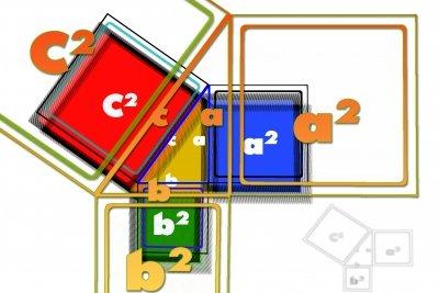 Beim Pythagoras wird mit Hochzahlen gerechnet