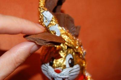 Schokoladen-Osterhasen lassen sich auch zweitverwerten.