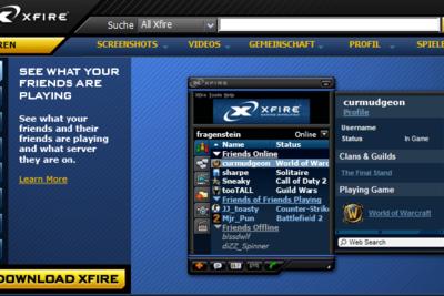 Xfire ist ein Programm zur Kommunikation.