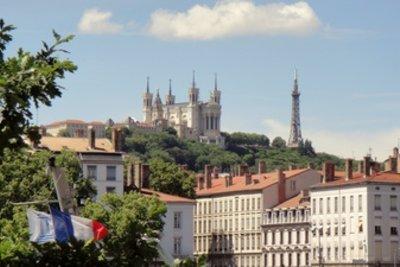 Blick auf die Basilika von Lyon