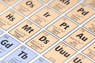 Atomschalen können mit Periodensystemen bestimmt werden.