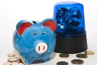 Banken wechseln Kleingeld in Scheine.