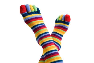 Kniestrümpfe halten auch die Beine warm.