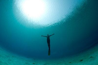 Taucher entdecken die faszinierende Tiefe.