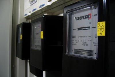 Am Stromzähler ist der Verbrauch ablesbar.