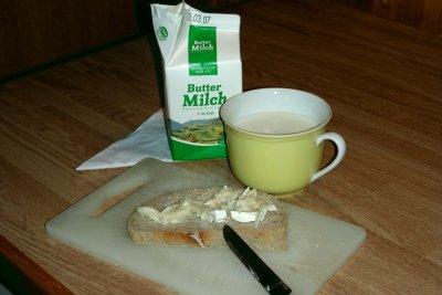 Buttermilch passt zur gesunden Ernährung.