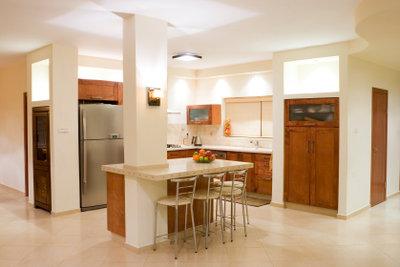 Platz sparen in der Küche.