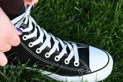 Nur richtig gebundene Skaterschuhe sind stylisch.