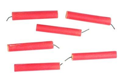 Vorsicht bei der Handhabung mit Feuerwerkskörpern