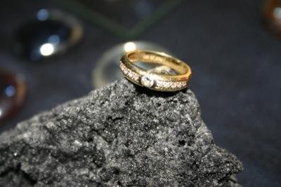 Ein Ring kann verkleinert werden.