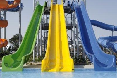 Wasserrutschen benötigen einen freien Zugang.