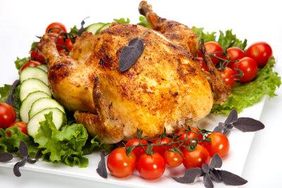 Lecker - ein Hähnchen vom Grill