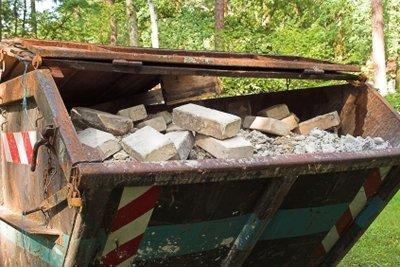 Bauschutt - Abtransport im Container