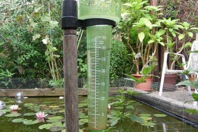 Die Jahresniederschlagsmenge ermitteln Sie durch Messungen.