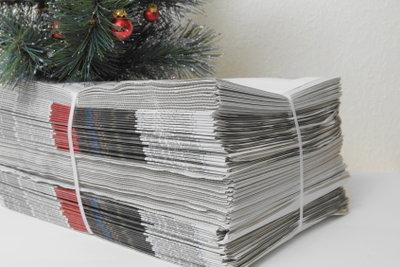 Mit Zeitungspapier können Sie Pappmaché herstellen.