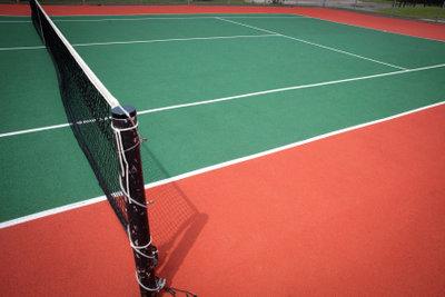 So hängt das Tennisnetz korrekt.
