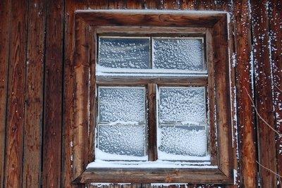 Fenster können beschlagen und gefrieren.