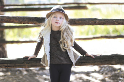 Als Kind für H&M modeln.