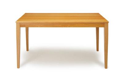 Der Tisch schwebt in der Luft.