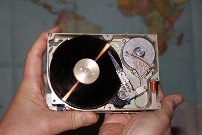 Die Festplatte säubern.