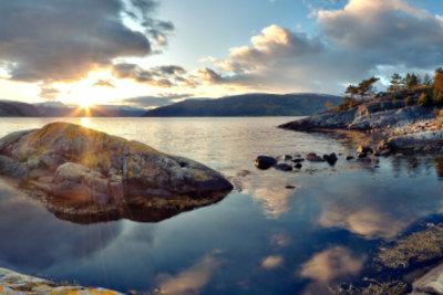 Norwegen ist bekannt für schöne Landschaften.