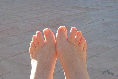 Nicht jeder kann Fußmodel werden.