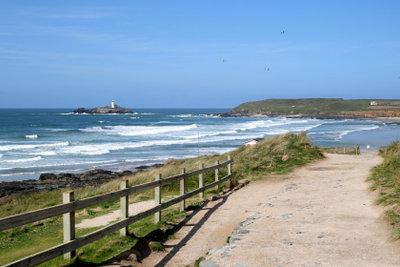 Am Strand von Gwithian auf Cornwall