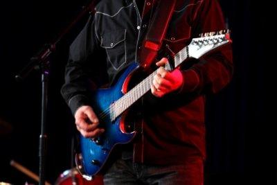 E-Gitarren symbolisieren Rock.
