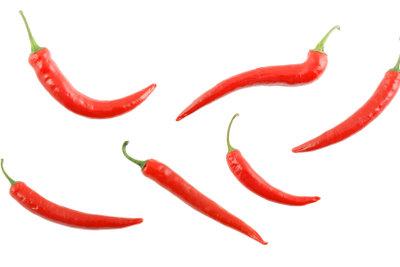 Peperoni enthalten viel Capsaicin.