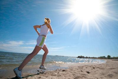 Einen Sonnenbrand beim Sport vermeiden.