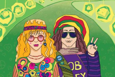 Hippies - bunt und lässig
