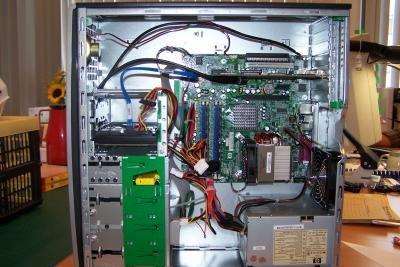 Computer sehen innen verwirrend aus.