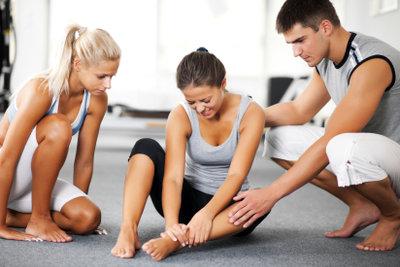 Ein Muskelfaserriss kann sehr schmerzhaft sein.
