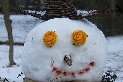 Ein origineller Schneemann.