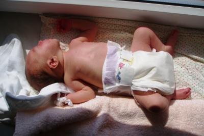 Babys mit einer Pinkelparty willkommen heißen.